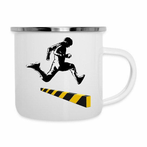 Leaping The Bounds of Caution - Camper Mug