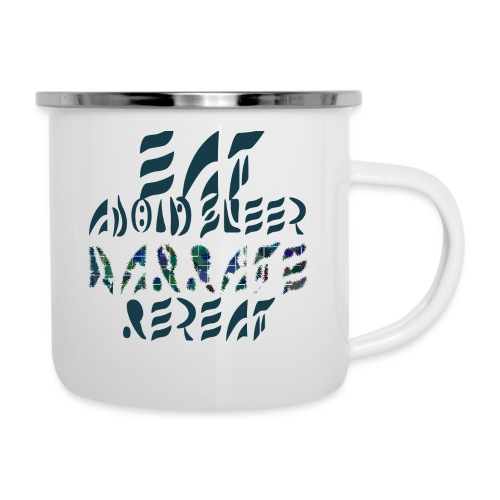 Eat Sleep Narrate Repeat - Camper Mug