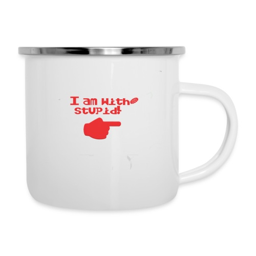 I am with stupid - Camper Mug