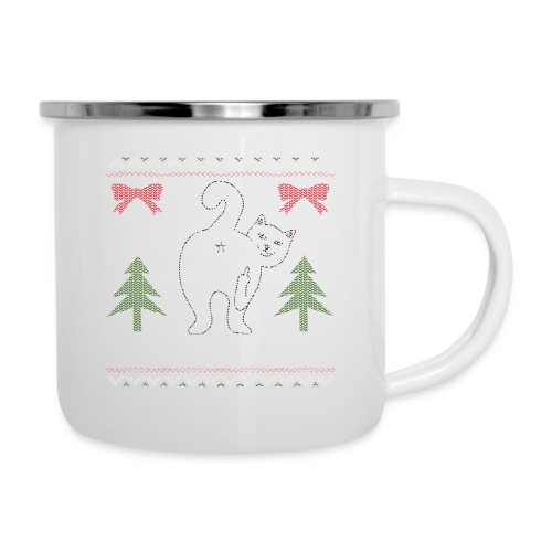 Ugly Christmas Sweater I Do What I Want Cat - Camper Mug