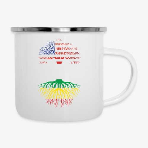 American Grown With African Roots T-Shirt - Camper Mug