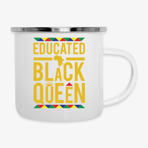 Educated Black Queen - Camper Mug