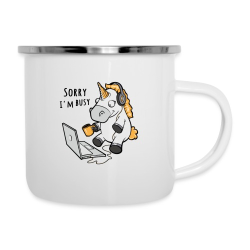 Sorry i'm busy, funny unicorn, music T Shirt - Camper Mug