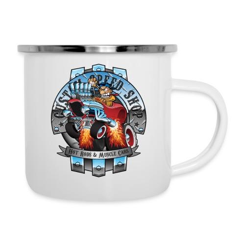Custom Speed Shop Hot Rods and Muscle Cars Illustr - Camper Mug