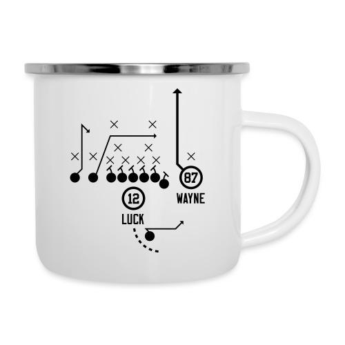X O Andrew Luck to Reggie Wayne - Camper Mug