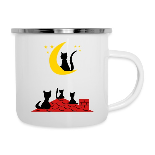 Cats on the roof - Camper Mug