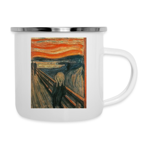 The Scream (Textured) by Edvard Munch - Camper Mug