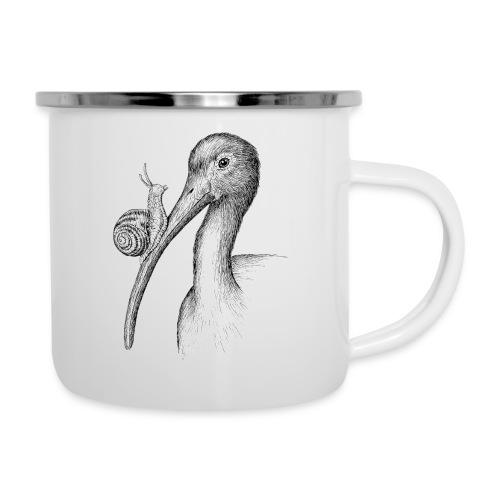 Ibis with Snail by Imoya Design - Camper Mug