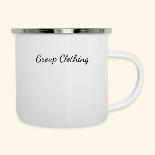 Cursive Black and White Hoodie - Camper Mug