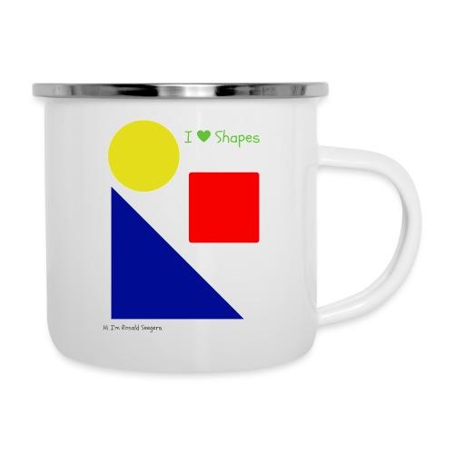 Hi I'm Ronald Seegers Collection-I Love Shapes - Camper Mug