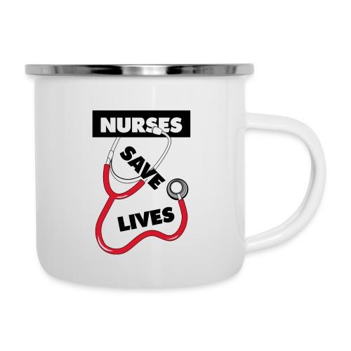 Nurses save lives red - Camper Mug