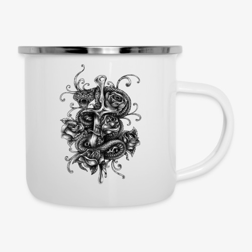 Dagger And Snake - Camper Mug