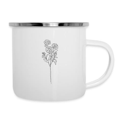 Minimal Floral Line Art Print - Camper Mug