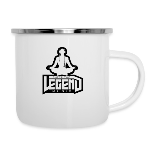Enter The Legend Music B/W - Camper Mug