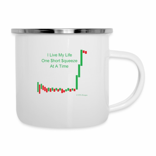 I live my life one short squeeze at a time - Camper Mug