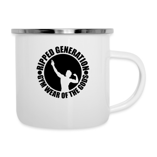 Ripped Generation Gym Wear of the Gods Badge Logo - Camper Mug