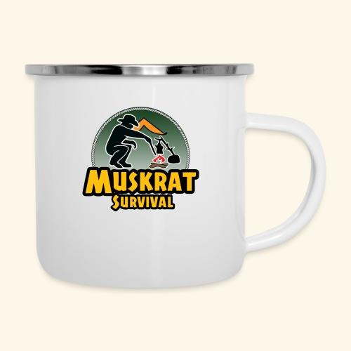 Muskrat round logo - Camper Mug