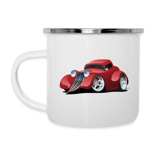 Red Hot Rod Restomod Custom Coupe Cartoon - Camper Mug