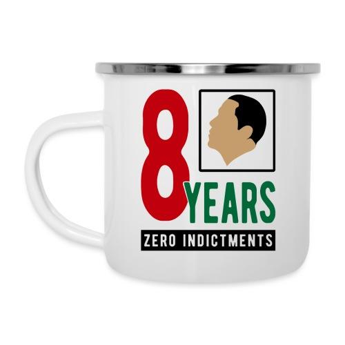 Obama Zero Indictments - Camper Mug