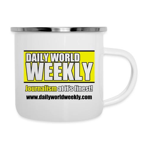 daily world weekly banner tagline web addy - Camper Mug