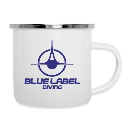 BLD logo with text blue - Camper Mug