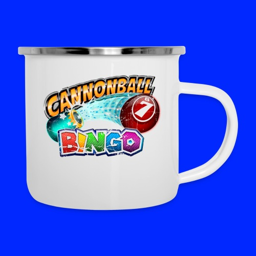 Vintage Cannonball Bingo Logo - Camper Mug