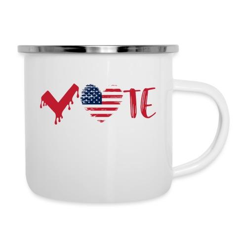 vote heart red - Camper Mug