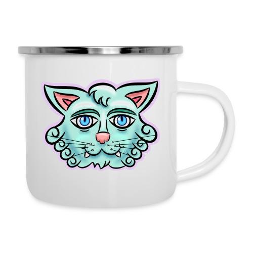 Happy Cat Teal - Camper Mug