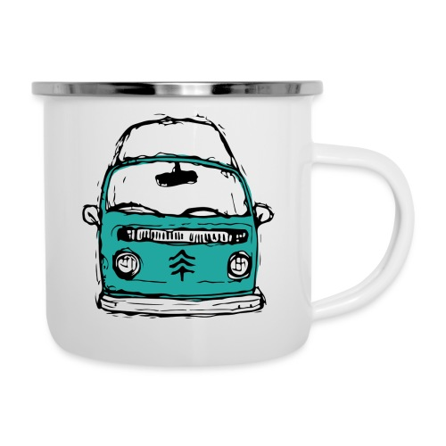 Living The Life In A Hippie Bus - Camper Mug