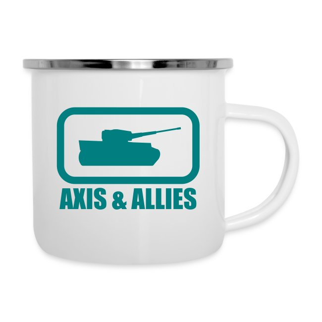 """Tank Logo with """"Axis & Allies"""" text - Multi-color"""