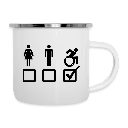 A wheelchair user is also suitable - Camper Mug