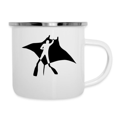 manta ray sting scuba diving diver dive fish ocean - Camper Mug