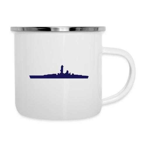 Battleship & UK Union Jack - Camper Mug