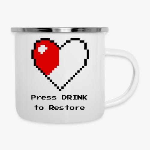 Press DRINK to Restore - Camper Mug