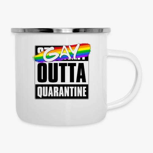 Gay Outta Quarantine - LGBTQ Pride - Camper Mug
