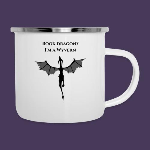 Book Dragon? I'm a Wyvern (black) - Camper Mug