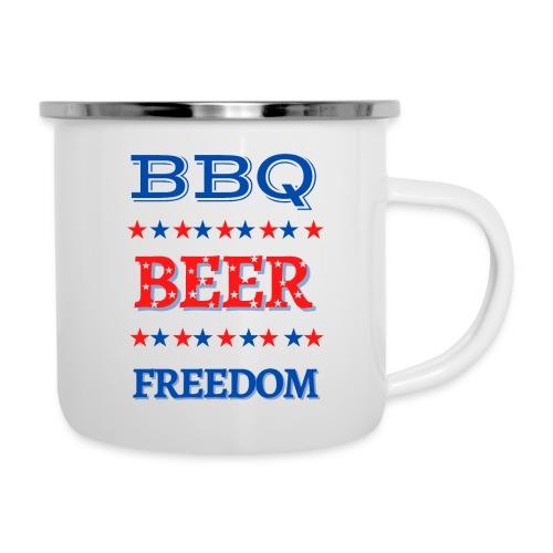 BBQ BEER FREEDOM - Camper Mug