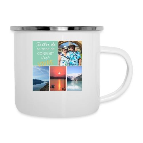 Positivons la vie - Camper Mug
