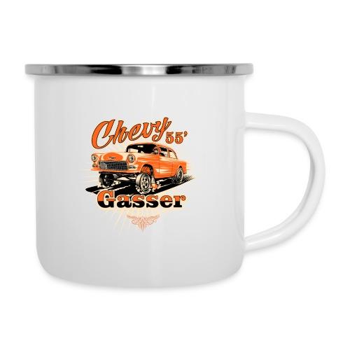 Head's Up '55 Chevy Gasser T-Shirt - Camper Mug