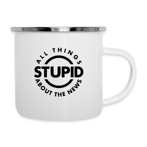 leafBuilder All Things Stupid About The News - Camper Mug