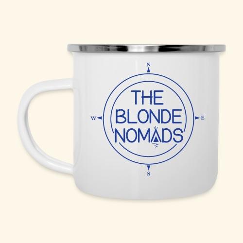 The Blonde Nomads Blue Logo - Camper Mug
