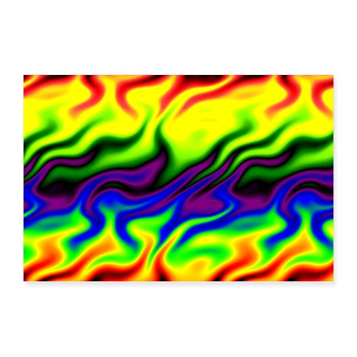 Catch A Fire Reggae and Full Color Spectrum - Poster 36x24