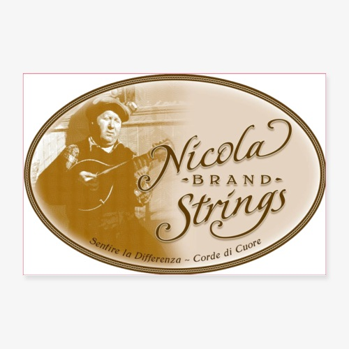 Nicola Brand Strings Logo - Poster 36x24