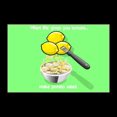 Lemon Tater Poster (Green) - Poster 36x24