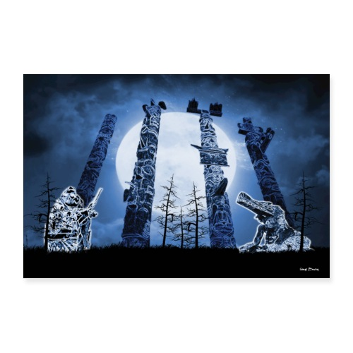 Grandmother Moon Totem Spirits - Poster 36x24
