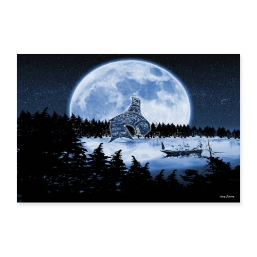 Grandmother moon killer whale - Poster 36x24