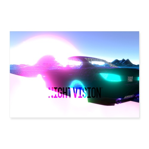 Nightvision Cyberspace Poster - Poster 36x24