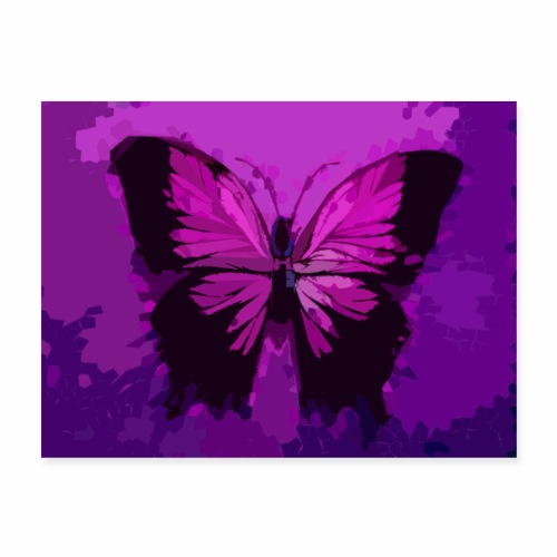 Fuchsia Pink Butterfly - Poster 24x18