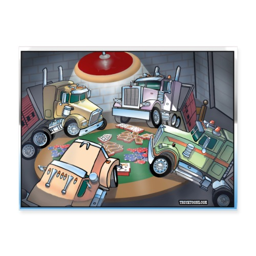 Brick Truck Card Game Poster - Poster 24x18