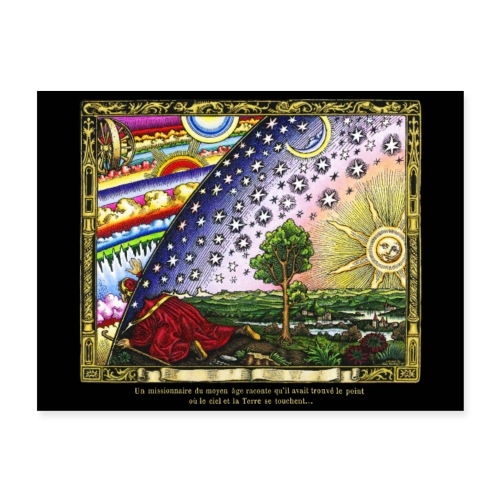 Flammarion Engraving - Colored Version - Poster 24x18
